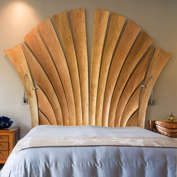 Custom Headboard, view 2, by Ray Kelso