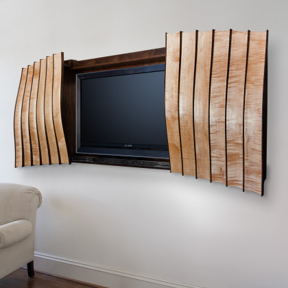Wall Cabinet, open view 2, by Ray Kelso