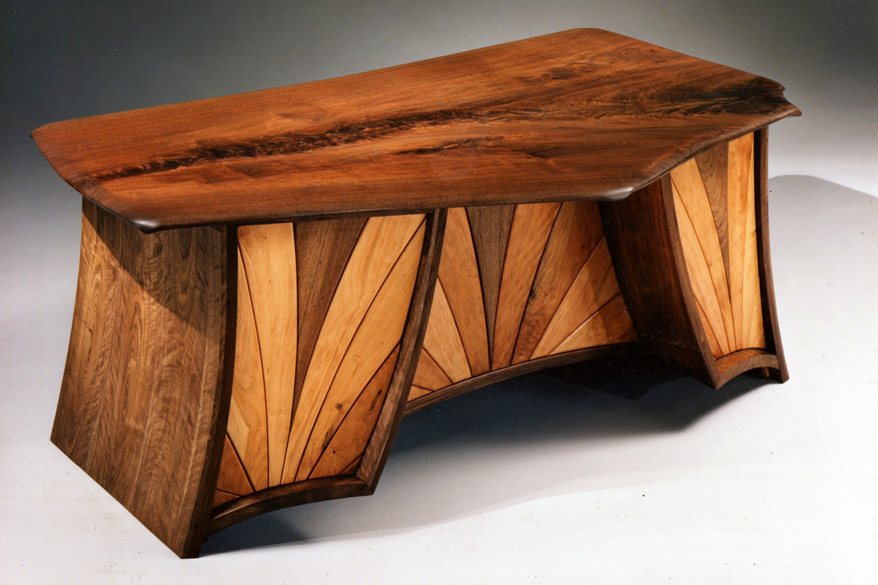Walnut Desk, view two by Ray Kelso