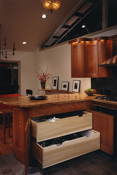 Custom Kitchen, view 2, by Ray Kelso
